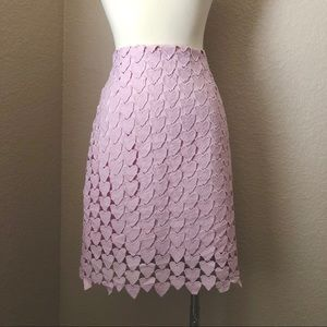 NEW Pale Pink Linked Hearts Skirt w/Gold Zipper